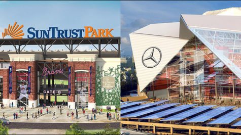 Suntrust Park and Mercedes Benz Stadium Meet Atlanta