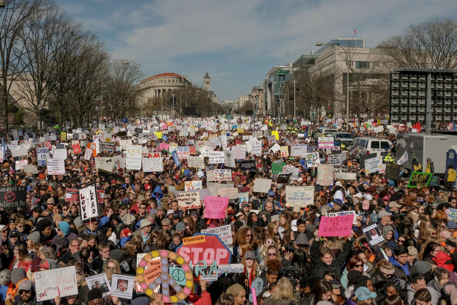 3/24/18,  Washington, D.C.   Demonstrators fill Pennsylvania Avenue in preparation for the March for Our Lives Rally in Washington, D.C. on March 24, 2018.   Gabriella Demczuk / TIME